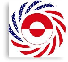 Greenlandic American Multinational Patriot Flag Canvas Print