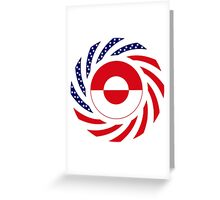 Greenlandic American Multinational Patriot Flag Greeting Card