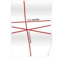 Minimalist - Love Actually #1 Poster