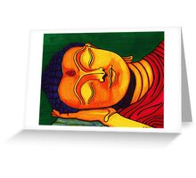 just resting his eyes Greeting Card