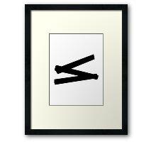 Folding rule yardstick Framed Print