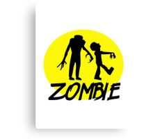 Zombies moon Canvas Print