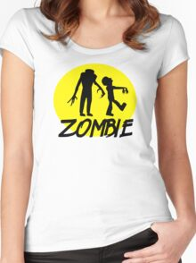 Zombies moon Women's Fitted Scoop T-Shirt