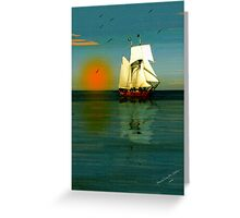 ~ BON VOYAGE / GOD'S SPEED ~ Greeting Card