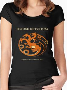 House Ketchum - Gotta Catchem' All Pokemon Game of Thrones Crossover Women's Fitted Scoop T-Shirt