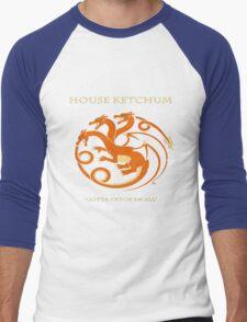 House Ketchum - Gotta Catchem' All Pokemon Game of Thrones Crossover Men's Baseball ¾ T-Shirt