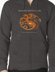 House Ketchum - Gotta Catchem' All Pokemon Game of Thrones Crossover Zipped Hoodie