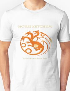 House Ketchum - Gotta Catchem' All Pokemon Game of Thrones Crossover T-Shirt