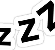 Snore zzz Sticker