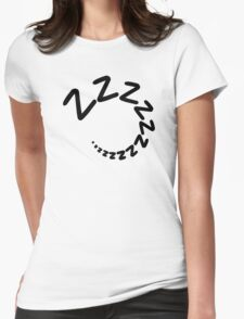Sleeping tired zzz Womens Fitted T-Shirt