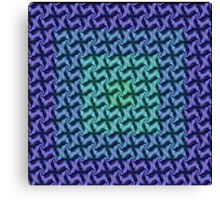 Fractal Fusion - In Teal, Aqua and Lilac Canvas Print