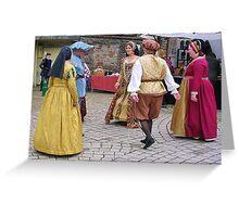 Elizabethan Dancers Greeting Card