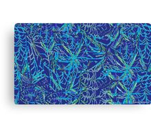 Blue Weeds Canvas Print