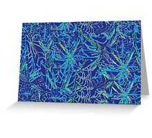 Blue Weeds Greeting Card