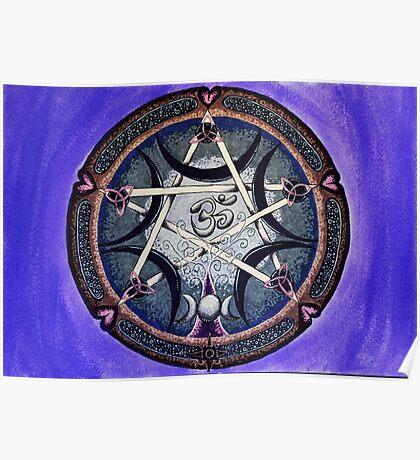 Symbolic Mandala celebrating all that is Poster