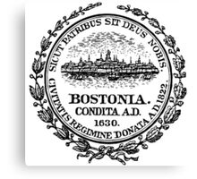 Seal of Boston Canvas Print