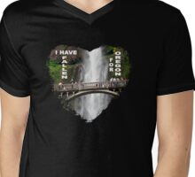 I HAVE FALLEN FOR OREGON Mens V-Neck T-Shirt