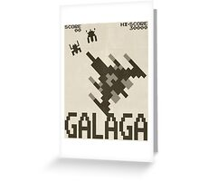 Galaga Greeting Card