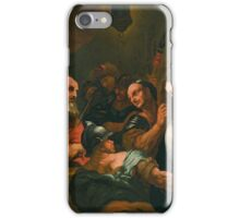 Neapolitan School, 17th century - Christ before Caiaphas iPhone Case/Skin