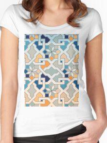 Geometric Pattern - Oriental Design  Women's Fitted Scoop T-Shirt