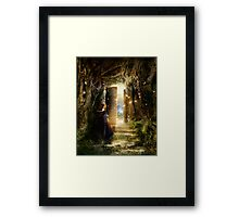 """A Knock at the Door"" - Illustration Framed Print"