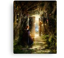 """A Knock at the Door"" - Illustration Canvas Print"
