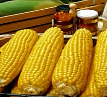 Yum Yum Corn On The Cob by Linda Miller Gesualdo