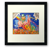 Blarney the Stoned Leprachaun Framed Print
