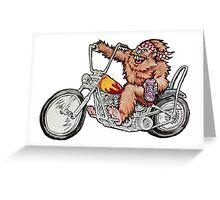 Bigfoot Biker Greeting Card