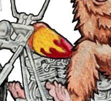 Bigfoot Biker Sticker