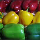 Bell Peppers by Linda Miller Gesualdo