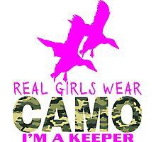 REAL GIRLS WEAR CAMO - DUCK HUNTER Photographic Print