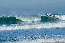Surfing Porthtowan Cornwall UK by DonDavisUK