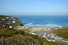 Porthtowan Beach Cornwall UK by DonDavisUK