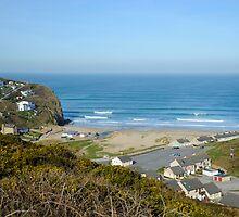Porthtowan Beach Cornwall UK by DonDavisUK