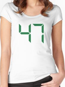 Number 47 Women's Fitted Scoop T-Shirt
