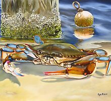 Crab On The Shoreline by Phyllis Beiser