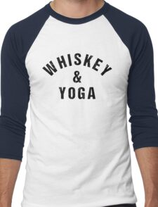 Whiskey And Yoga Men's Baseball ¾ T-Shirt
