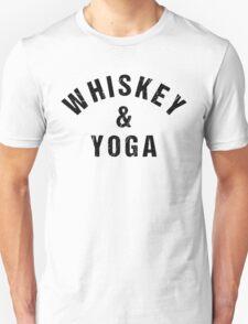 Whiskey And Yoga Unisex T-Shirt