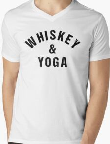 Whiskey And Yoga Mens V-Neck T-Shirt