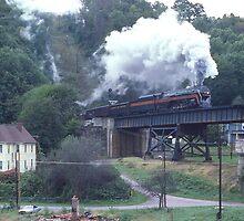 Norfolk & Western #611 - Coopers, WV - 1990 by TrainmasterBob