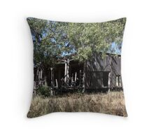 Shearing Shed from Yesteryear Throw Pillow