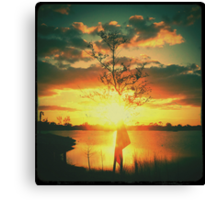 Sunset - Diana F+ Canvas Print