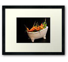 Hotties in a tub... Framed Print
