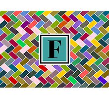 F Monogram Photographic Print