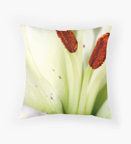 Heart of Lily Throw Pillow