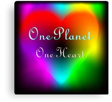 One Planet... One Heart Canvas Print