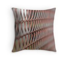 Chain Link Fence  Throw Pillow