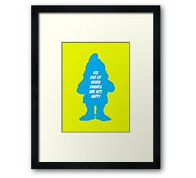 6 out of 7 dwarfs are not happy Framed Print