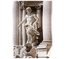 Statue in Rome Poster